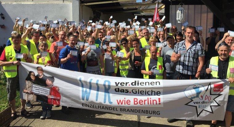 Streikauftakt im Brandenburger
