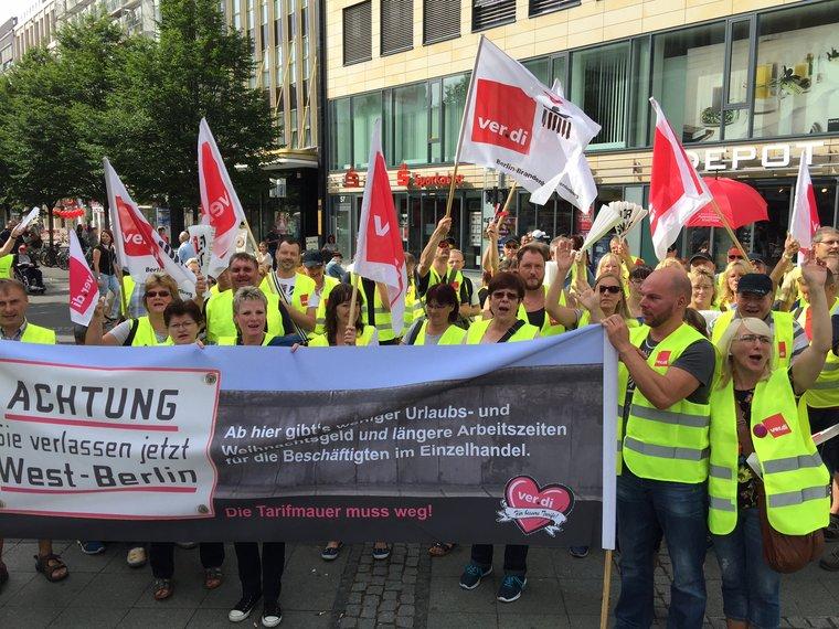 Am Freitag Streik im Berliner und Brandenburger Einzelhandel