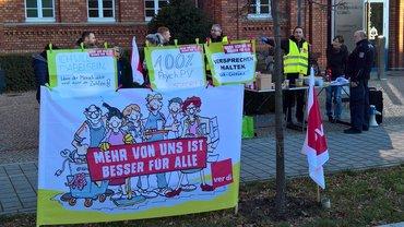Streik beim Asklepios Fachklinikum Lübben am 07.12.2017