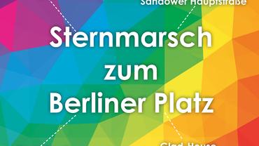 Cottbus ist bunt! Sternmarsch zum Berliner Platz